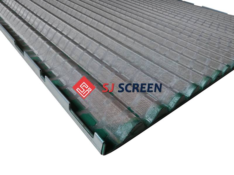 The close picture of replacement shale shaker screen for Derrick FLC 2000/48-30 PMD.
