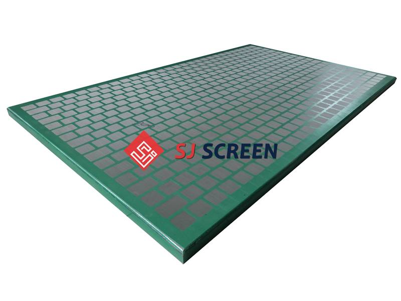 Replacement shaker screen for FSI 5000 series shale shakers.