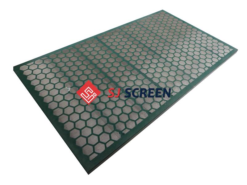 Replacement shaker screen for KEMTRON 48 series shale shaker.